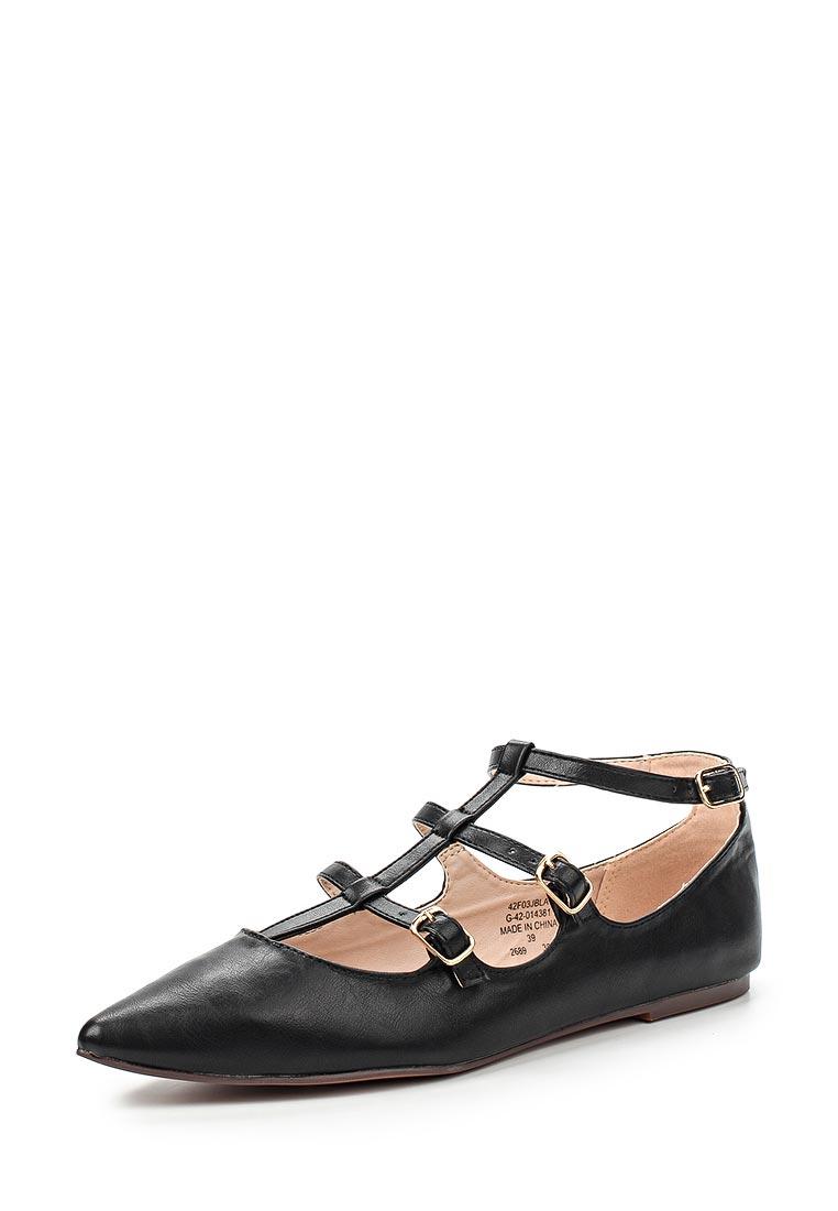 Туфли на плоской подошве Topshop (Топ Шоп) 42F03JBLA