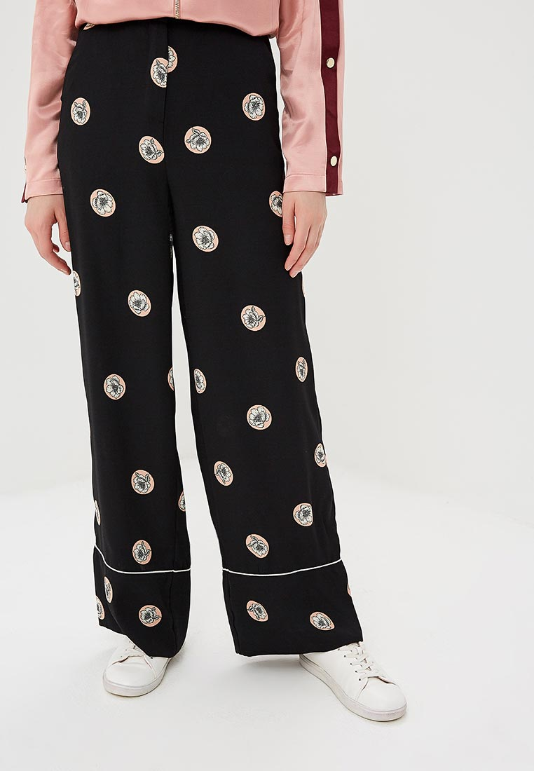 Женские широкие и расклешенные брюки Topshop (Топ Шоп) 36W01NBLK