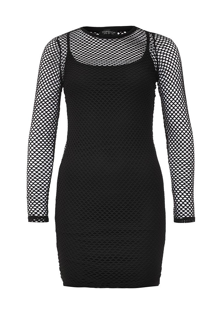 Платье-мини Topshop (Топ Шоп) 10J47IBLK