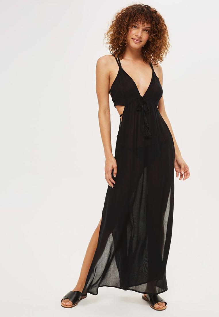 Платье-макси Topshop 03H14LBLK