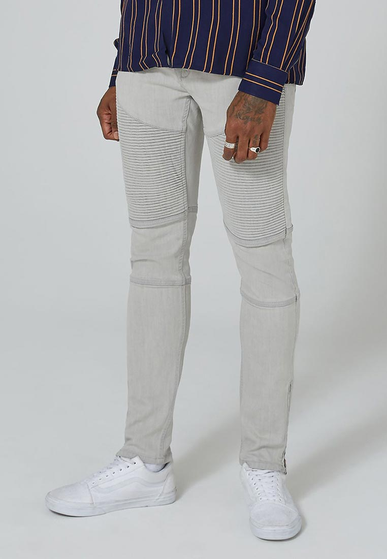 Зауженные джинсы Topman (Топмэн) 69B14PGRY