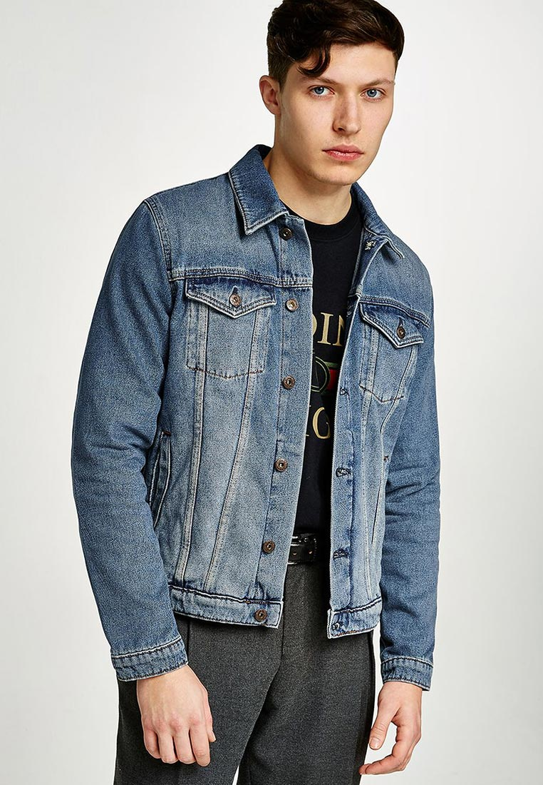 Джинсовая куртка Topman (Топмэн) 64P35PBLE