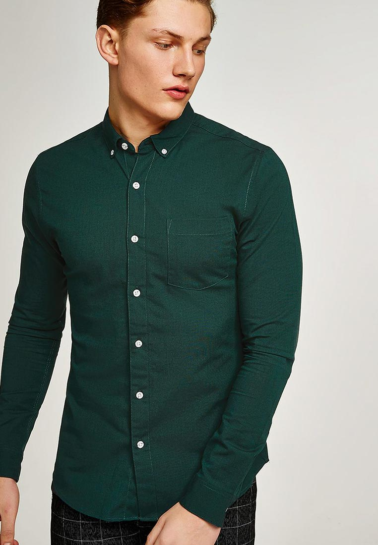 Рубашка с длинным рукавом Topman (Топмэн) 83B43OGRN