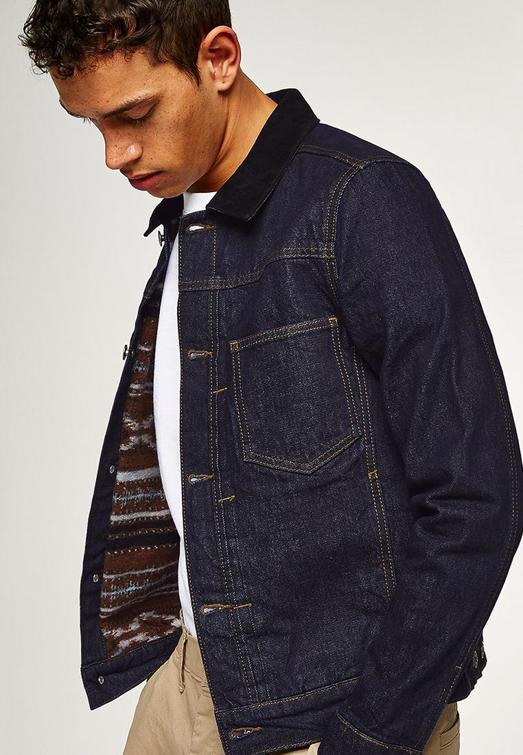 Джинсовая куртка Topman (Топмэн) 64Q04PBLE
