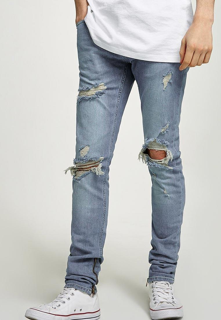 Зауженные джинсы Topman (Топмэн) 69B07PLST