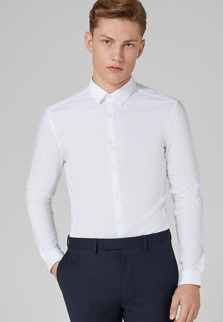 Рубашка с длинным рукавом Topman (Топмэн) 84L05NWHT