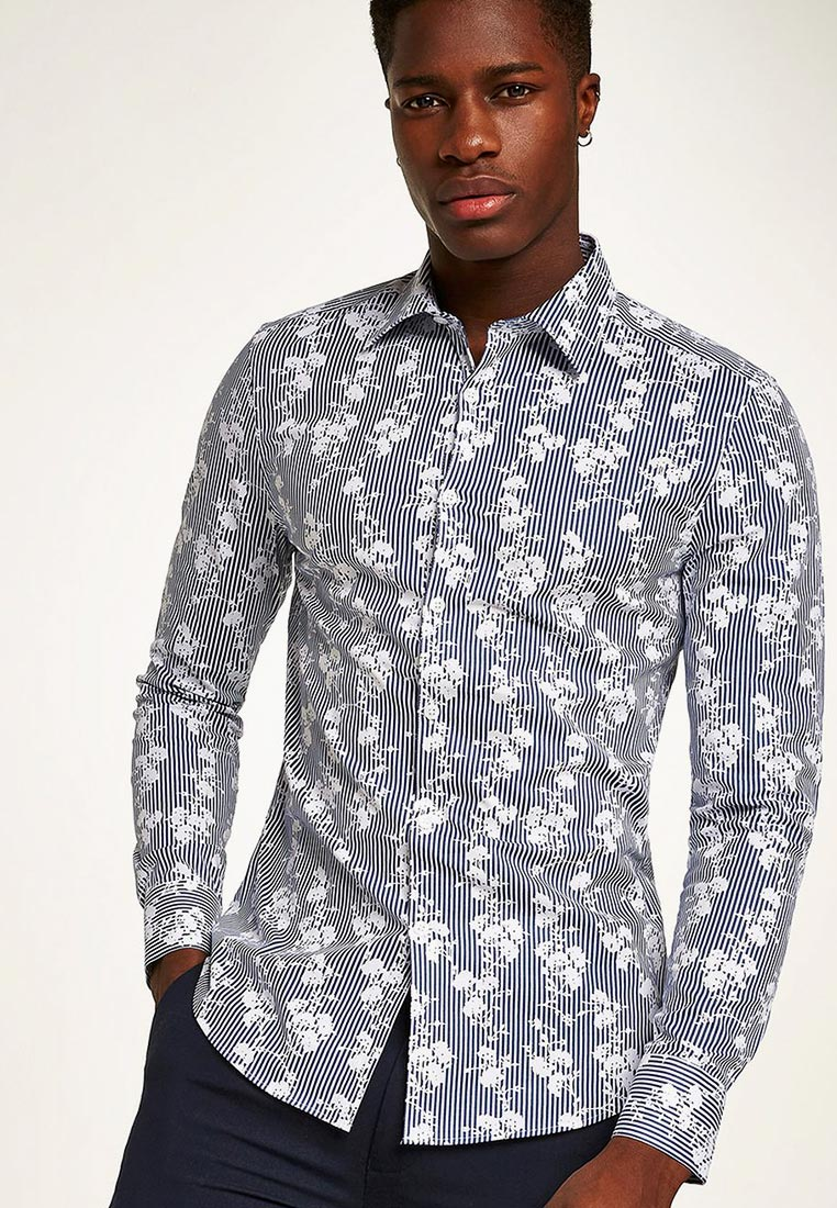 Рубашка с длинным рукавом Topman (Топмэн) 84C40OBLE