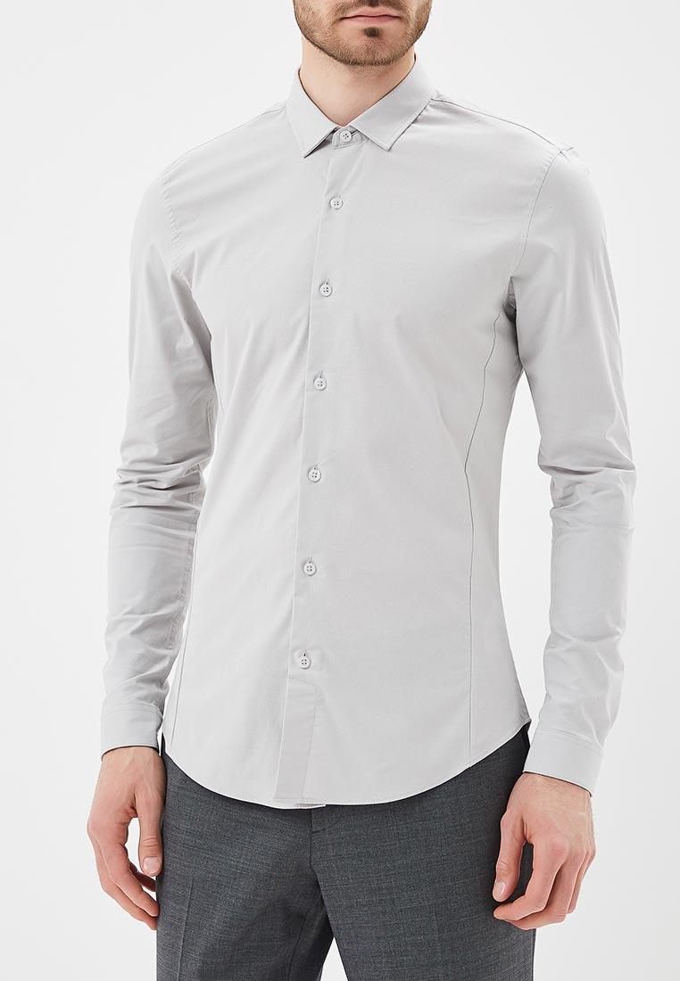 Рубашка с длинным рукавом Topman (Топмэн) 84L16PGRY