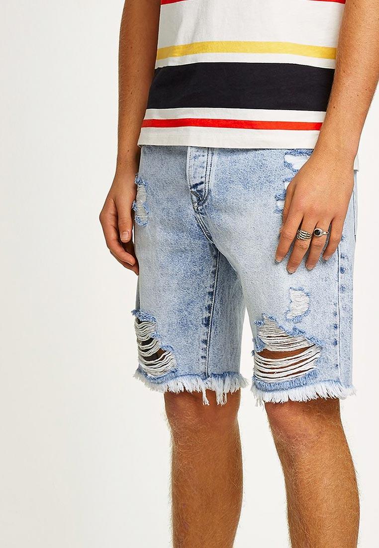 Мужские джинсовые шорты Topman (Топмэн) 33C00PLBL