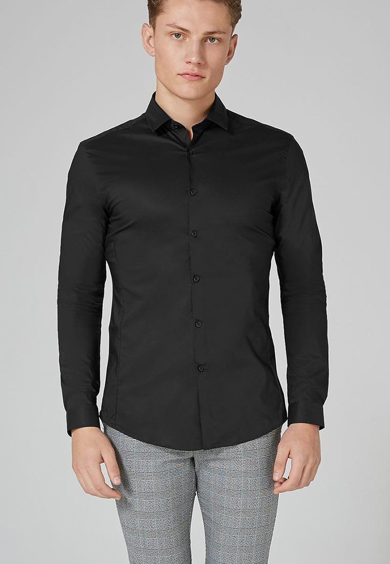Рубашка с длинным рукавом Topman (Топмэн) 84L06NBLK