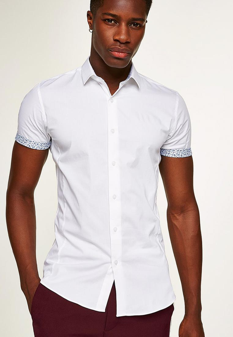 Рубашка с коротким рукавом Topman (Топмэн) 84A02PWHT