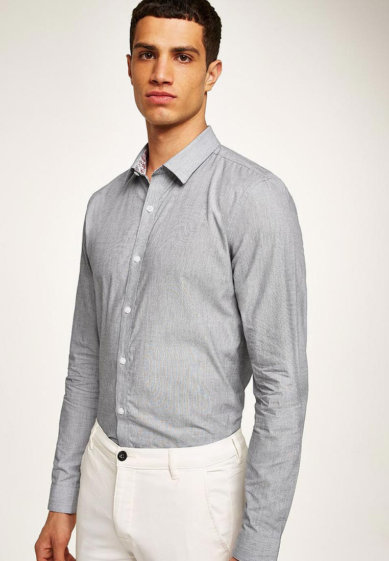 Рубашка с длинным рукавом Topman (Топмэн) 84L12PGRY