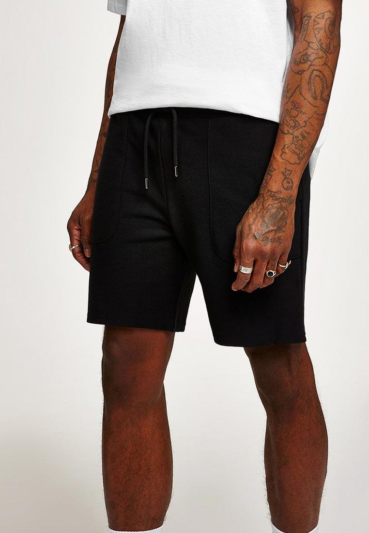 Мужские повседневные шорты Topman (Топмэн) 33J09PBLK