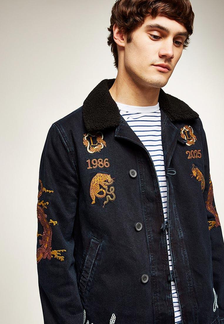 Джинсовая куртка Topman (Топмэн) 64Q07QBLK