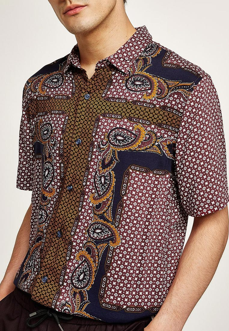 Рубашка с коротким рукавом Topman (Топмэн) 83U58OBRG