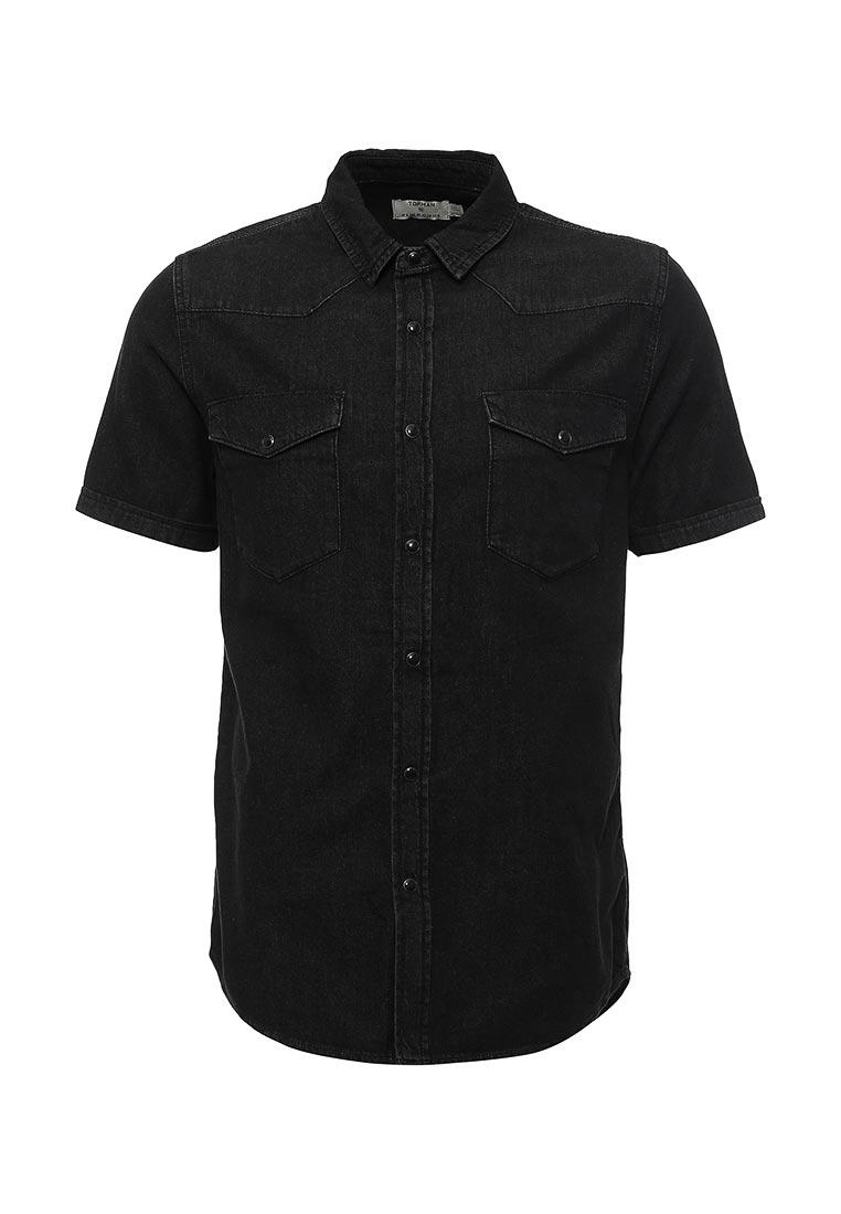Рубашка с коротким рукавом Topman (Топмэн) 83S03MBLK