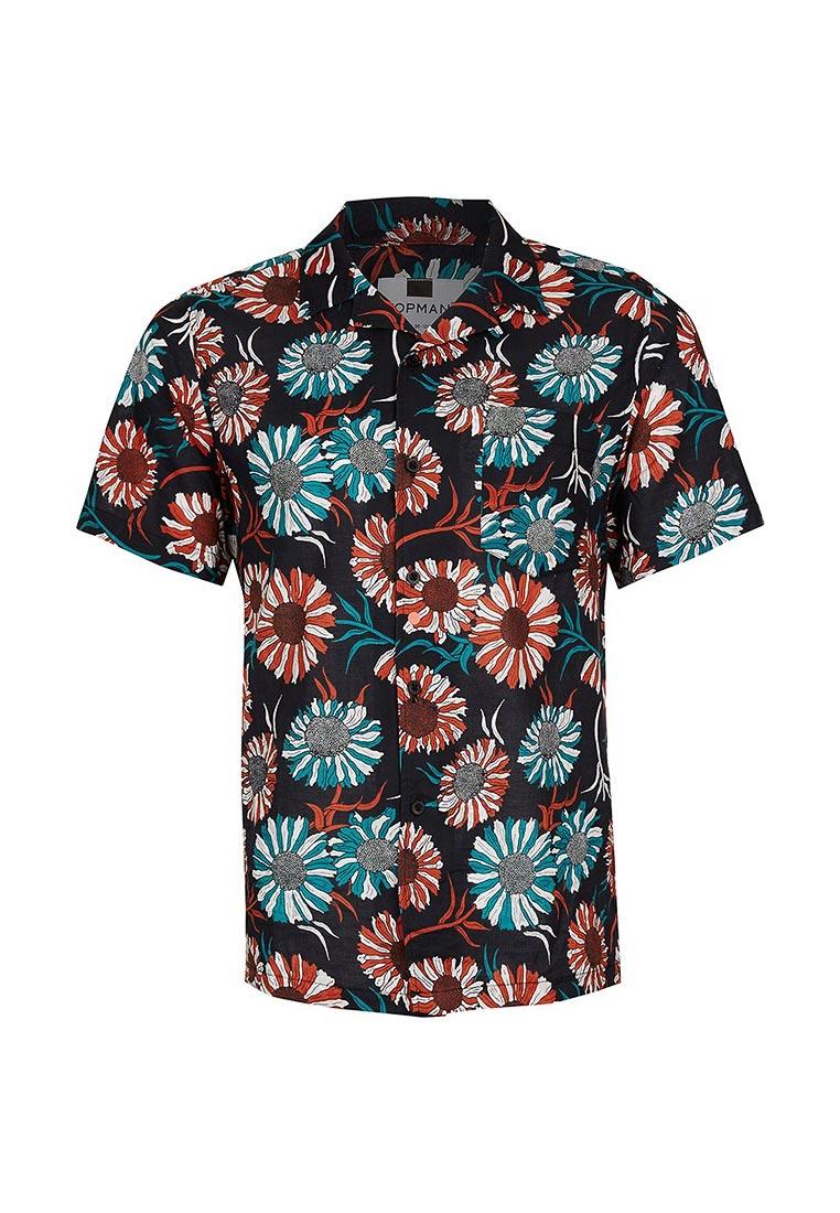Рубашка с коротким рукавом Topman (Топмэн) 83D40NBLK