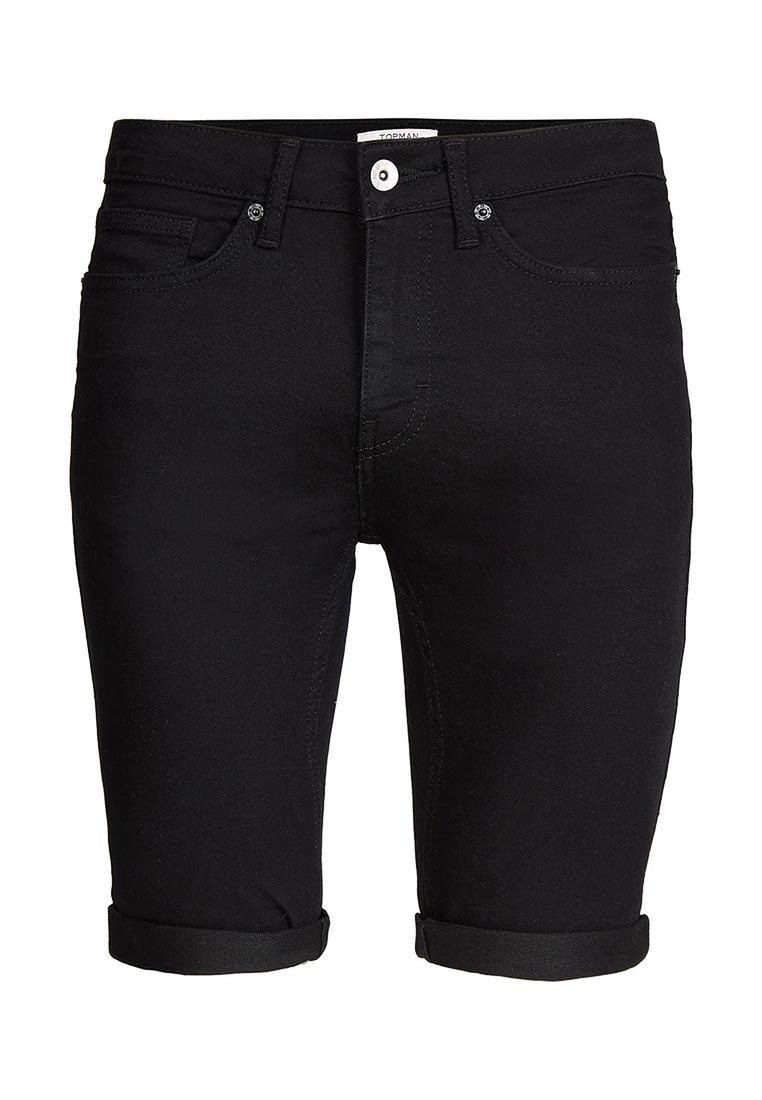 Мужские джинсовые шорты Topman (Топмэн) 33D02NBLK
