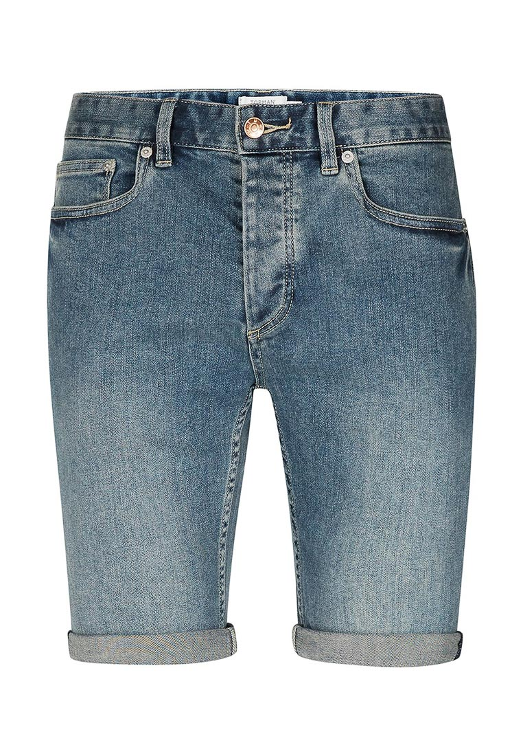Мужские джинсовые шорты Topman (Топмэн) 33D01NBLE