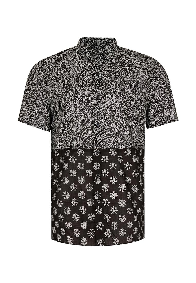 Рубашка с коротким рукавом Topman (Топмэн) 83D23NBLK