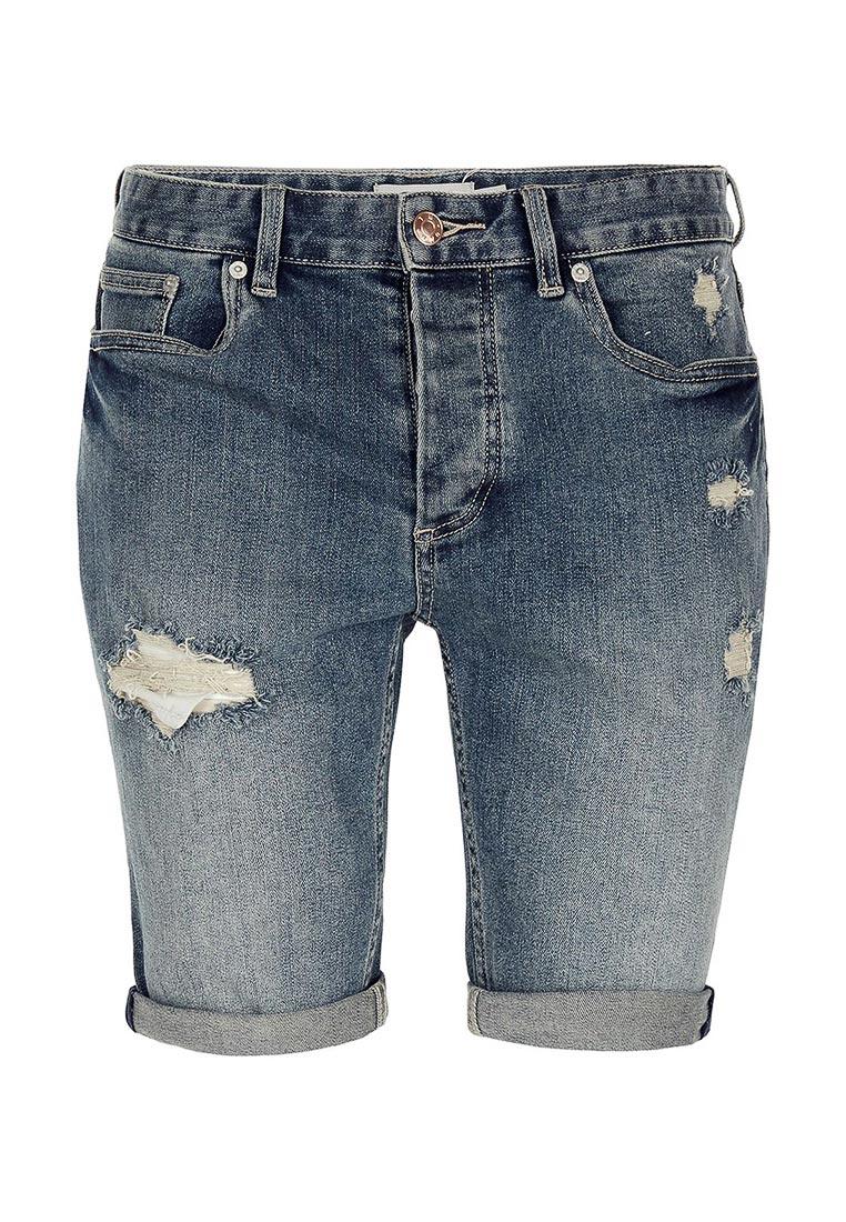 Мужские джинсовые шорты Topman (Топмэн) 33C16NBLE