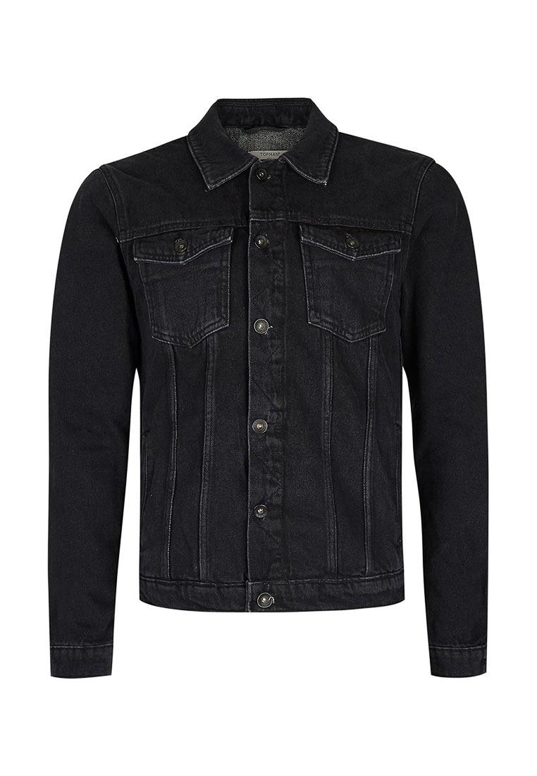 Джинсовая куртка Topman (Топмэн) 64P89LBLK