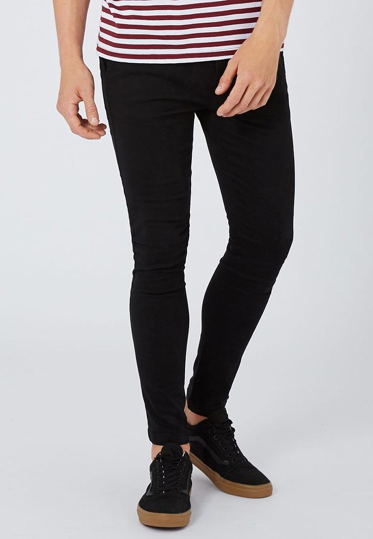 Мужские зауженные брюки Topman (Топмэн) 68D45NBLK
