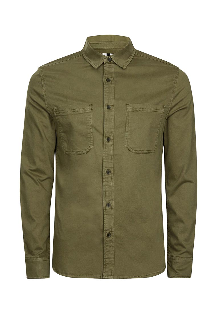 Рубашка с длинным рукавом Topman (Топмэн) 83B01OKHA