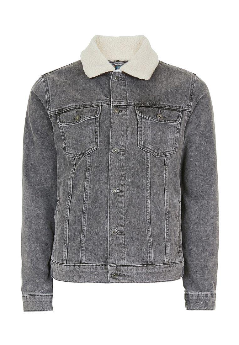 Джинсовая куртка Topman (Топмэн) 64P02PBLK