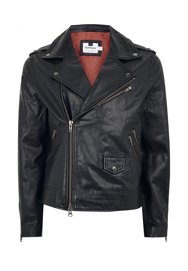 Кожаная куртка Topman (Топмэн) 64L02PBLK
