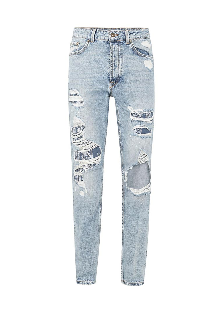 Зауженные джинсы Topman (Топмэн) 69J34OLST