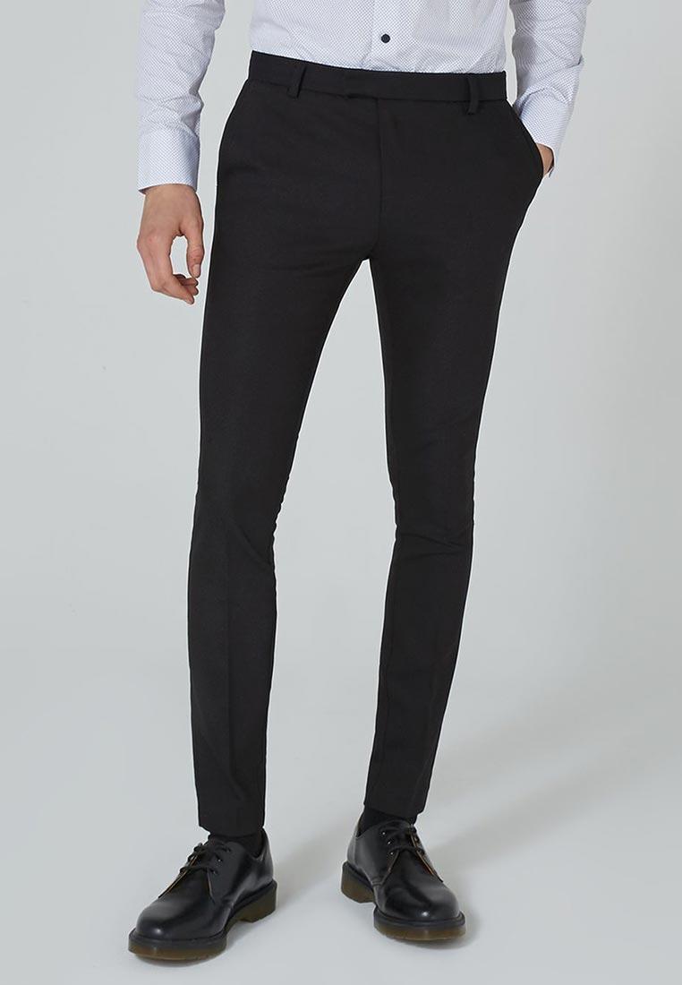 Мужские зауженные брюки Topman (Топмэн) 88D42PBLK