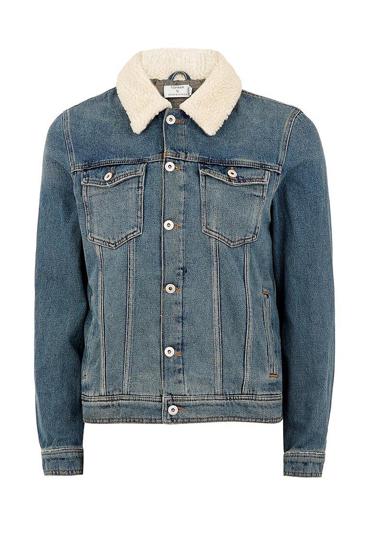 Джинсовая куртка Topman (Топмэн) 64P02QBLE