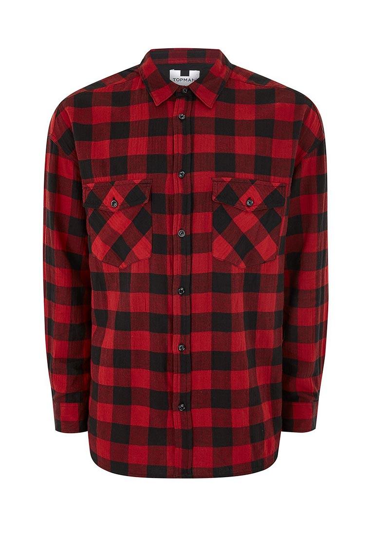 Рубашка с длинным рукавом Topman (Топмэн) 83C16NRED