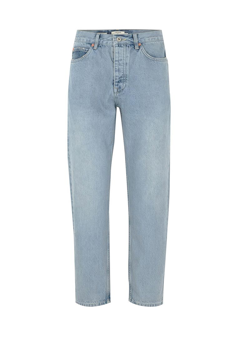 Зауженные джинсы Topman (Топмэн) 69J05PLST