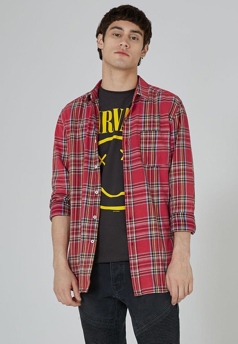 Рубашка с длинным рукавом Topman (Топмэн) 83C25ORED