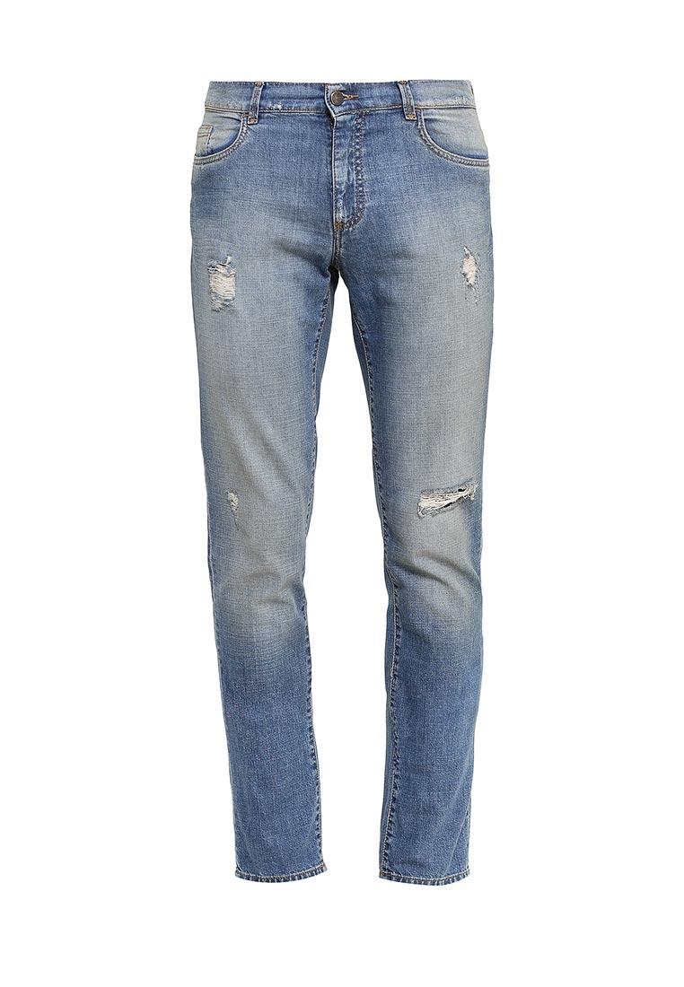 Зауженные джинсы TRUSSARDI JEANS (Труссарди Джинс) 52542RD