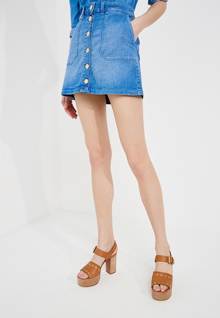 Прямая юбка TRUSSARDI JEANS (Труссарди Джинс) 56G00031