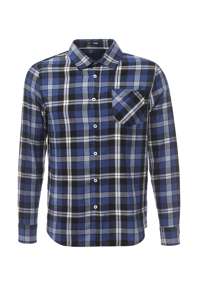 Рубашка с длинным рукавом ТВОЕ A1637/синий