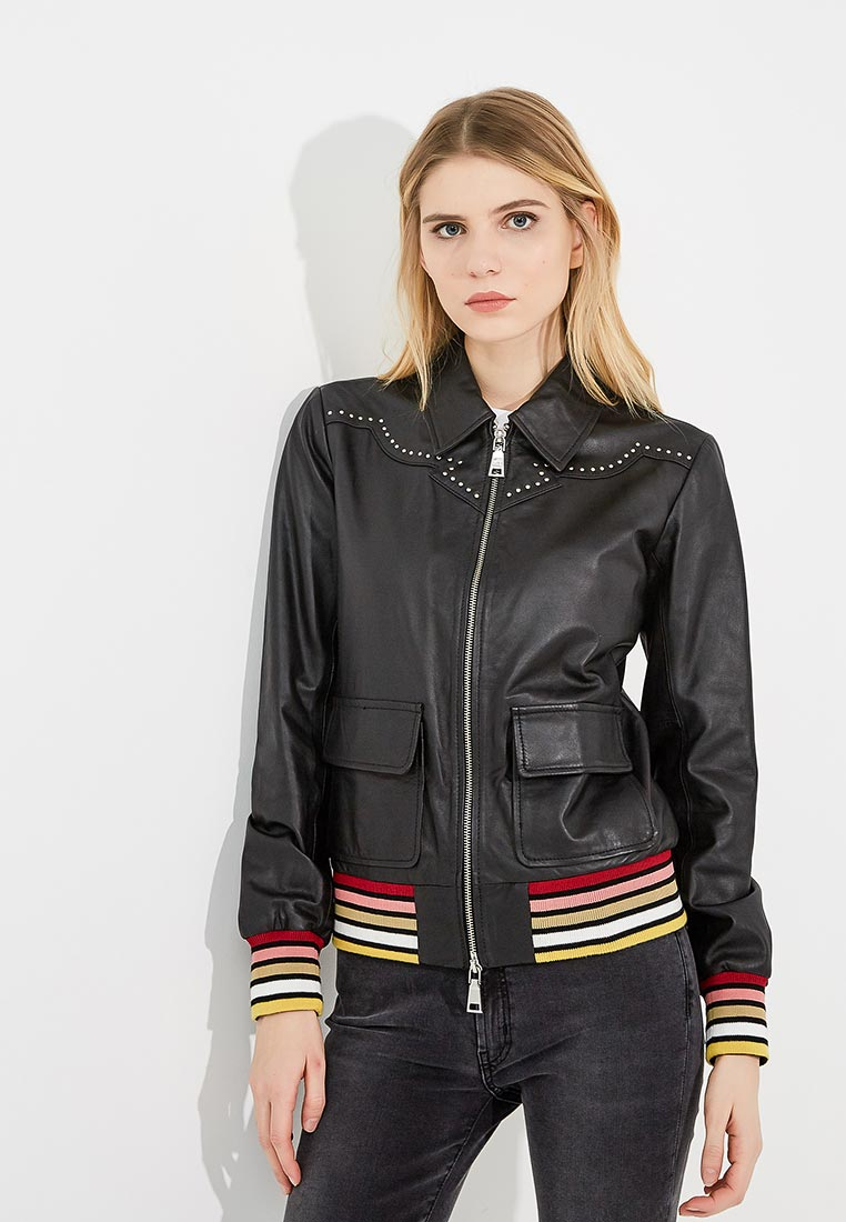 Кожаная куртка Twin-Set Simona Barbieri JS82AN