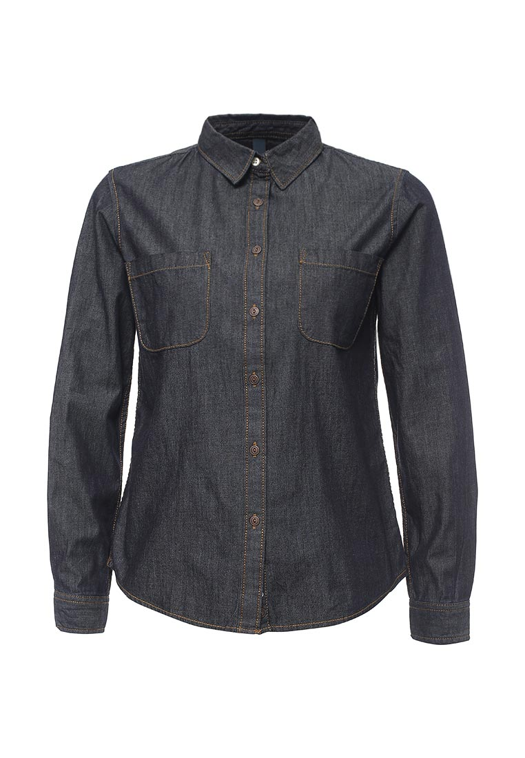 Женские джинсовые рубашки United Colors of Benetton (Юнайтед Колорс оф Бенеттон) 5ZB75Q6F4