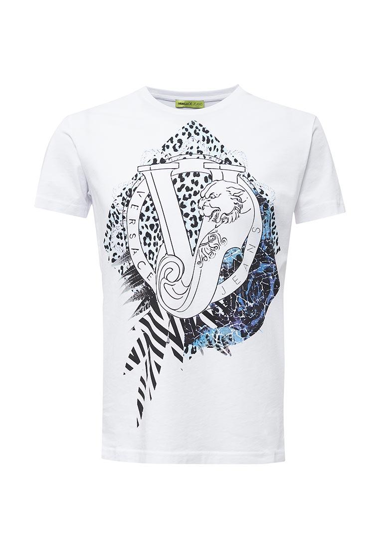 Мужская футболка Versace Jeans (Версаче Джинс) B3GQB7D236609  изображение 1 5d7eb1e93a2
