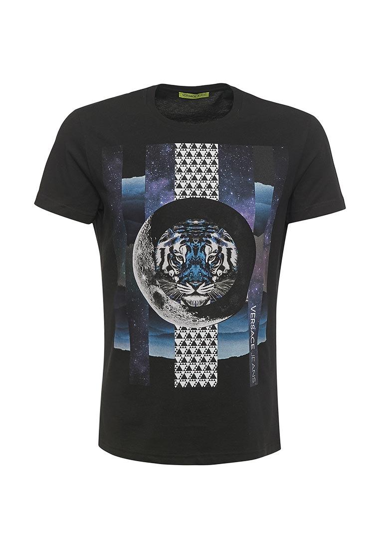 Мужская футболка Versace Jeans (Версаче Джинс) eb3gra75cE30134  изображение  1 8a18cfa8fd4
