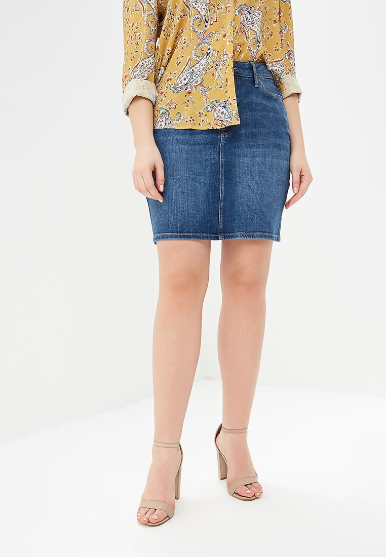 Джинсовая юбка Violeta by Mango (Виолетта бай Манго) 23065657
