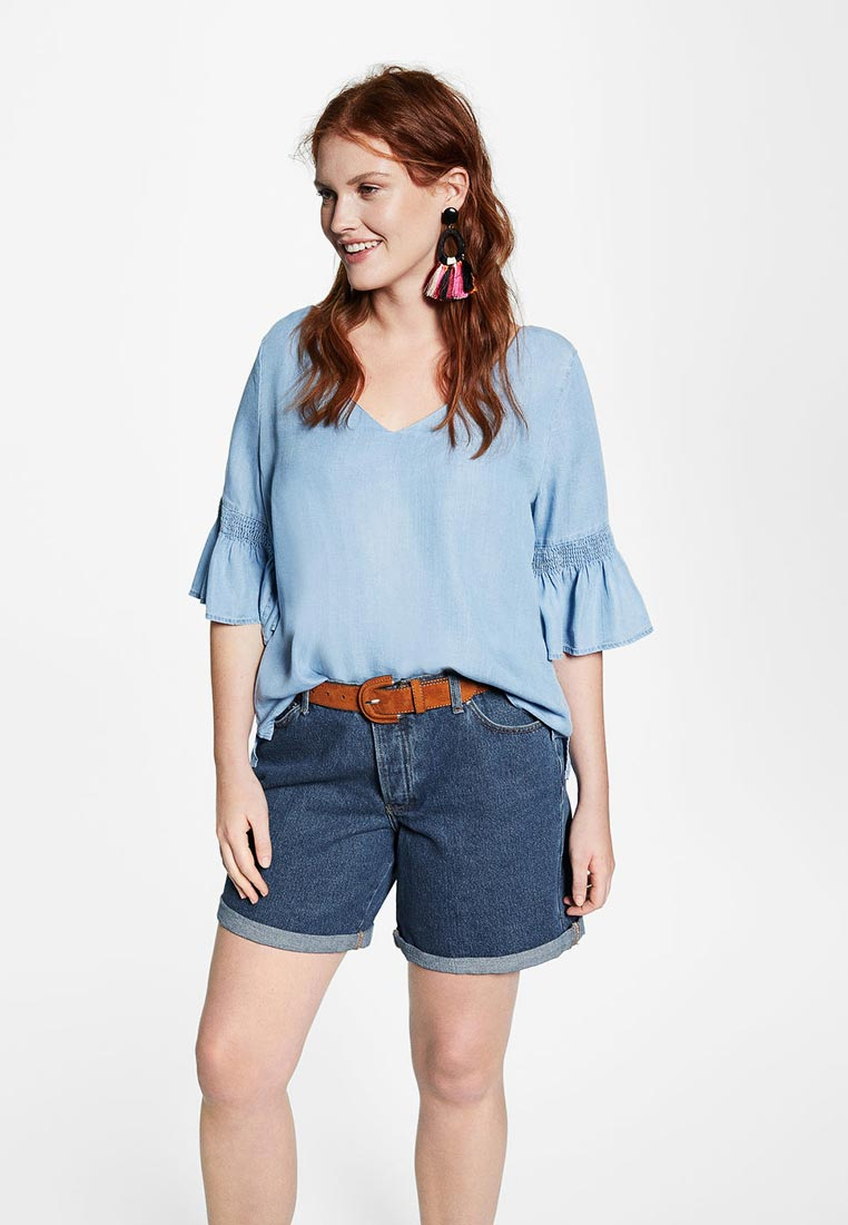 Женские джинсовые шорты Violeta by Mango (Виолетта бай Манго) 23027630