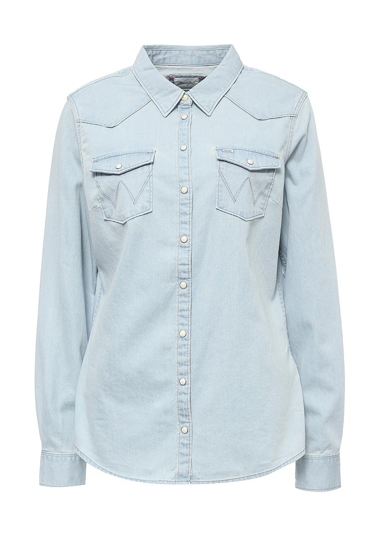 Женские джинсовые рубашки Wrangler (Вранглер) W50455G2E