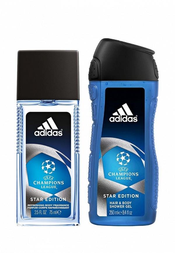 Набор парфюмерный adidas Uefa champions edition. Парфюмерная вода 75 мл + гель для душа 250 мл