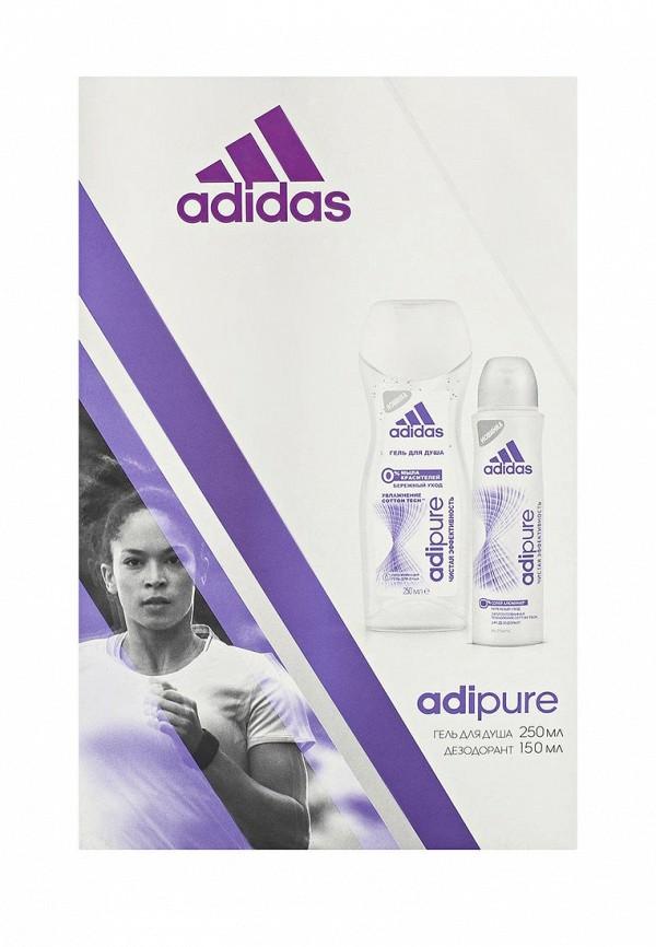 Набор для душа adidas Adipure. Антиперспирант спрей 150 мл + гель 250 мл