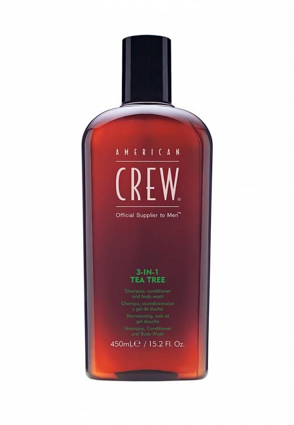 Шампунь American Crew для волос 3 в 1 чайное дерево 450 мл