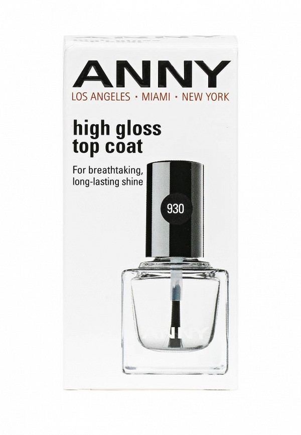 Топовое покрытие Anny Закрепляющее для лака Супер блеск High gloss top coat